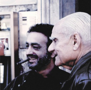 Domenico Colantoni e Alberto Moravia