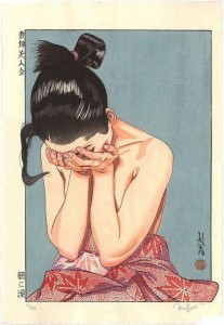 japan woman cry