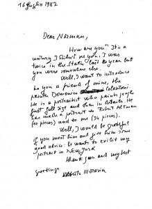 lettera di Moravia a Norman Mailer