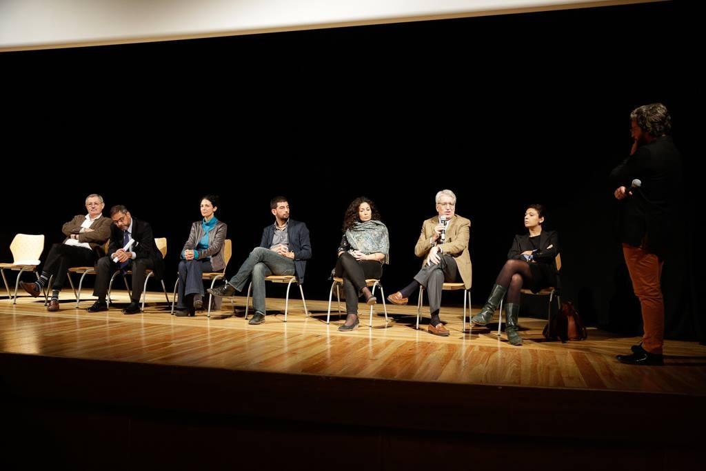Andrea Vianello, Costanza Quatriglio, Luca Ricciardi, Valentina Calderone, Grazia Serra e Luigi Manconi presso Teatro Palladium.