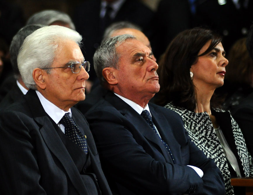 I Presidenti Mattarella, Grasso e Boldrini