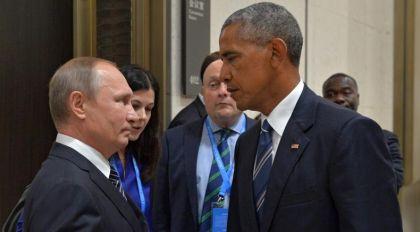 Stretta di Mano senza risate tra Putin e Obama.
