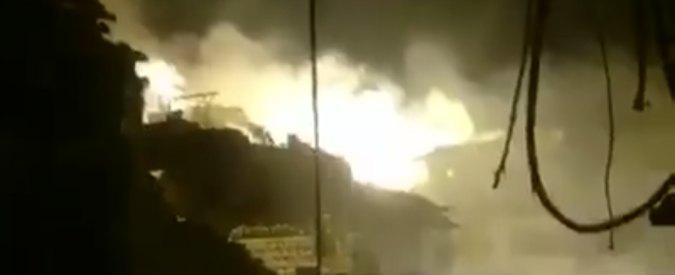 Una immagine di Aleppo sotto i Bombardamenti stesso scenario della stazione di Viareggio