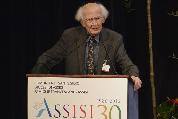 Zygmunt Bauman alla conferenza sulla pace Assisi 30 nel 2016