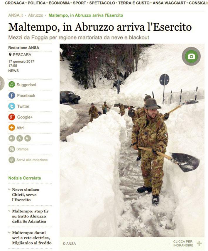 la foto bufala emanata dal ministero della difesa per cui la Pinotti ha dovuto scusarsi