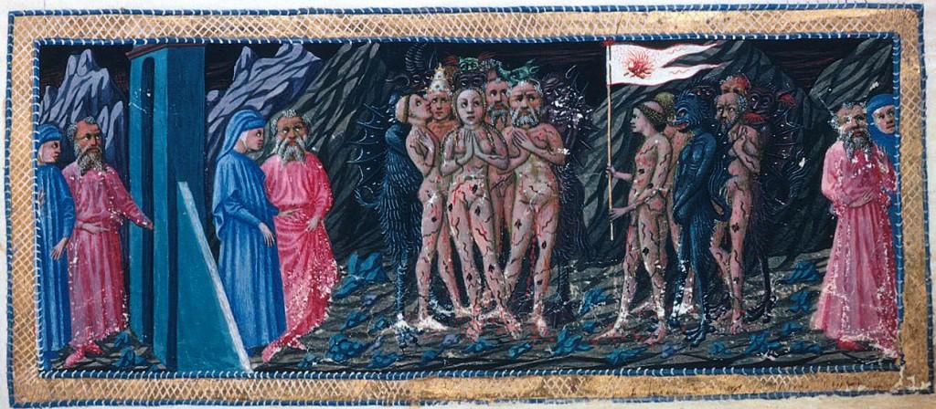 Dante e Virgilio incontrano gli Ignavi, opera di Priamo della Quercia