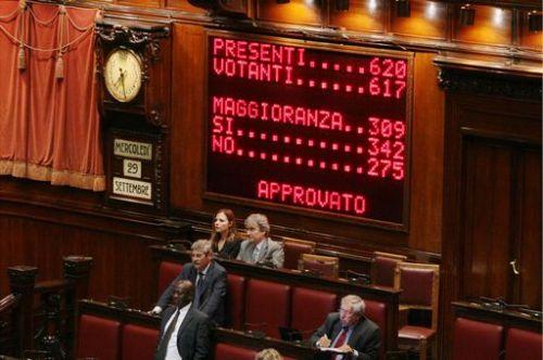 votazioni per approvazione legge
