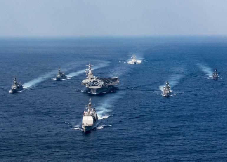 La portaerei Vinson a capo della Armada americana