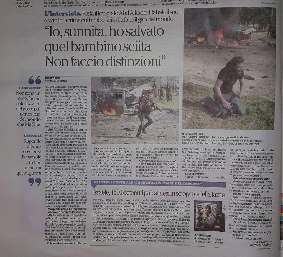 l'articolo che riprende a pagina 14 l'articolo in prima pagina