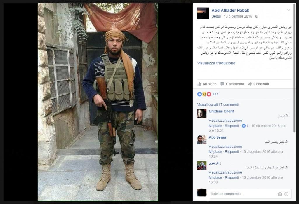 Una foto dal profilo Fb del fotografo siriano