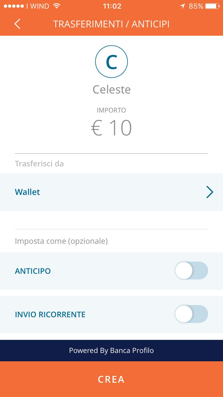 Invio denaro