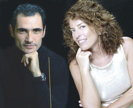 La pianista Cristiana Pegoraro e il direttore d'orchestra Lorenzo Porzio