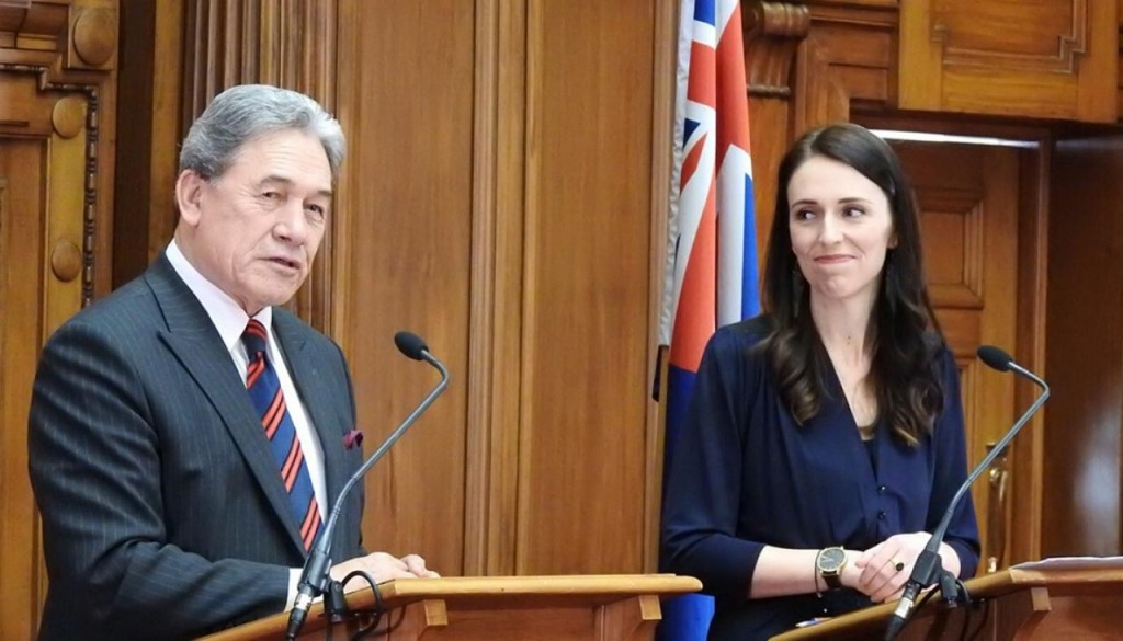 NZ Jacinda Ardern Winston Peters
