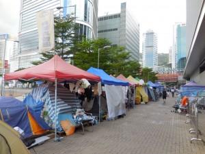 Tende dei manifestanti dopo la Umbrella Revoultion
