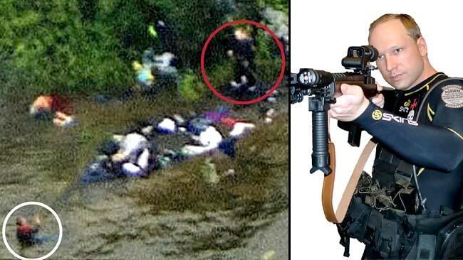Anders Behring Breivik, ripreso dagli elicotteri mentre sterminava la gioventù del Partito Laburista Norvegese