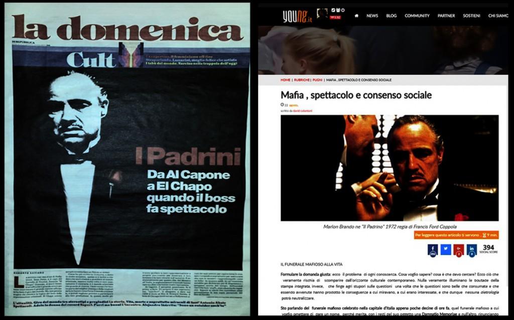 a sinitra l'articolo di Saviano gennaio 2016 a destra il mio articolo agosto 2015