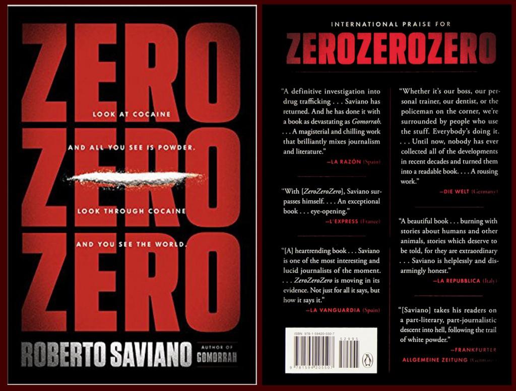 edizione in lingua inglese di Zero Zero Zero, pubblicato dalla Penguin , come quella del video