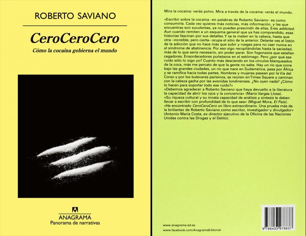 la traduzione in spagnolo di Zero Zero Zero pubblicata dall'ed. Anagrama e distribuita in Messico