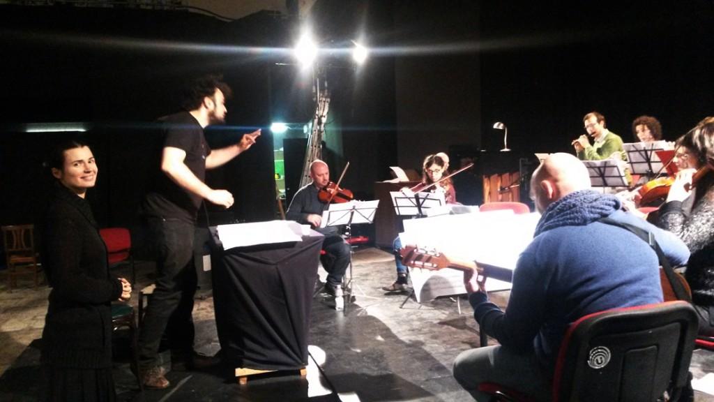 Natalia Pavlova, Enrico Melozzi e la Orchestra Notturna Clandestina durante le prove