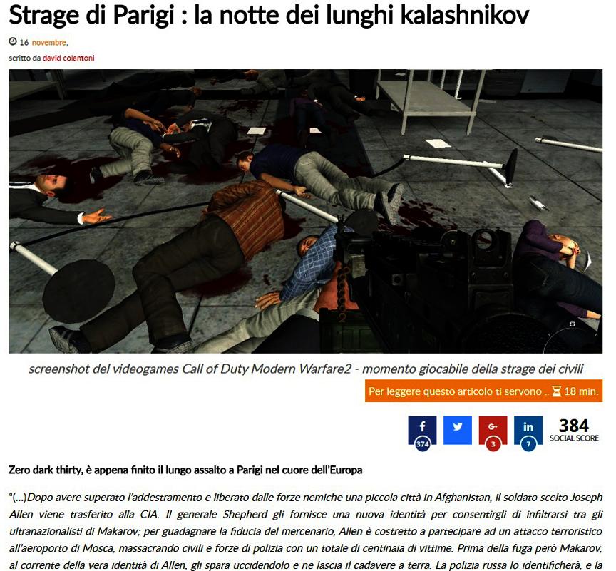 controllo del presente : La strage di Parigi: la notte dei lunghi Kalasnikov. Il primo dei miei scritti in cui parlo dell'origine criminale dei terroristi e di molto altro..