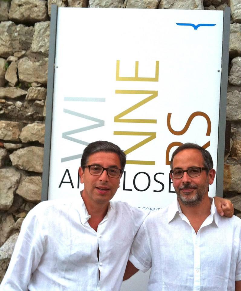 Le conversazioni Antonio Monda e Davide Azzolino a capri durante una passata edizione de Le Conversazioni (photo courtesy by Caterina Monda)