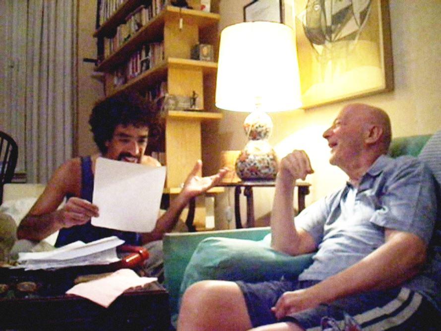 2010 David Colantoni e Aldo Rosselli , a casa sua leggendo alcune pagine di un suo romanzo invia di scrittura