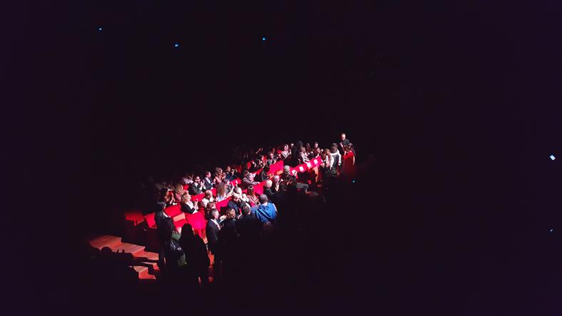 Sole Cuore Amore Sala Petrassi festa del Cinema Roma, fine della proiezione del film con il regista e il cast