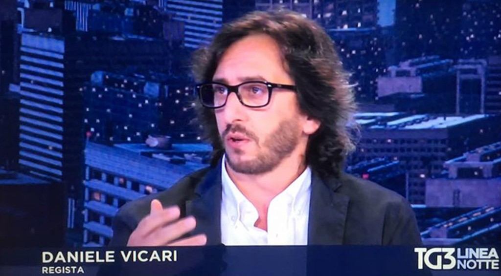 Daniele Vicari TG3 notte per parlare di Sole Cuore Amore
