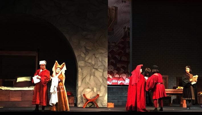 un momento del Trittico puccinianoi al teatro dell'Opera Kansai Nikikai , diretto da Marcello Lippi