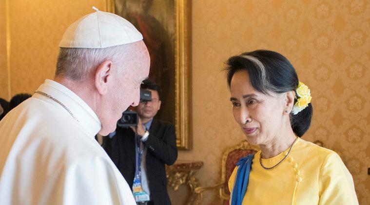myanmar Aung San Suu Kyi papa francesco