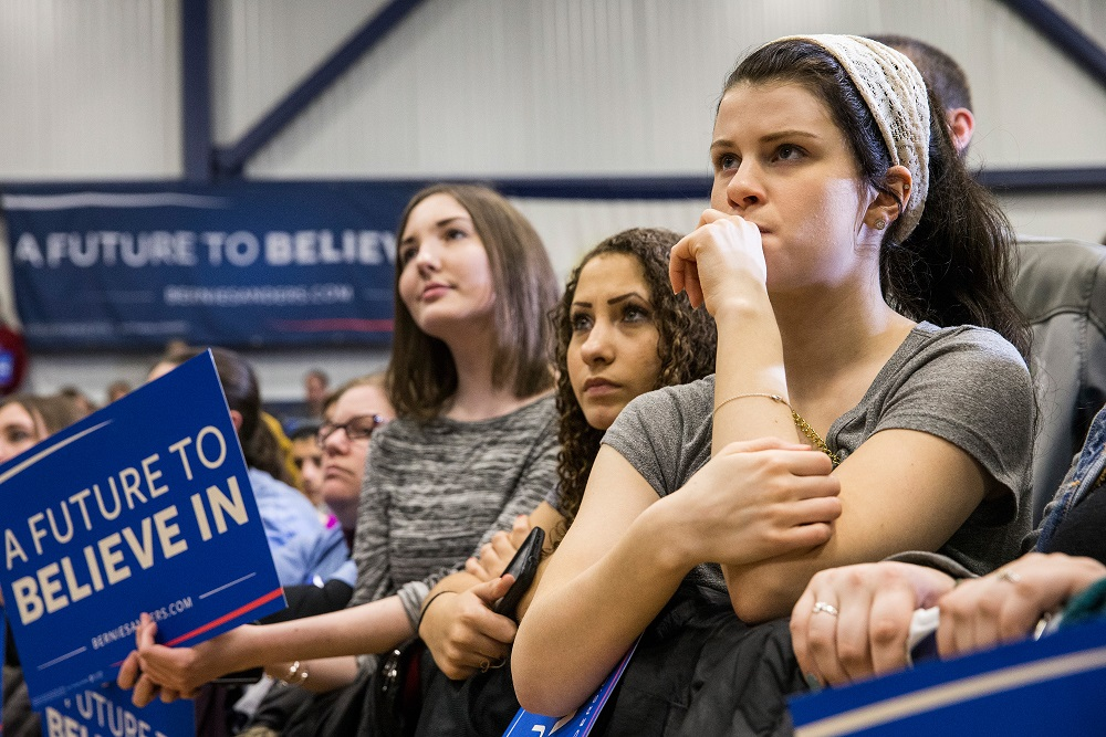 youth support for bernie sanders