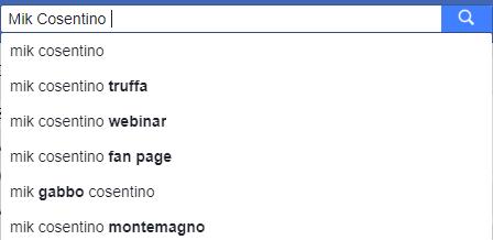 Ricerca Facebook Cosentino